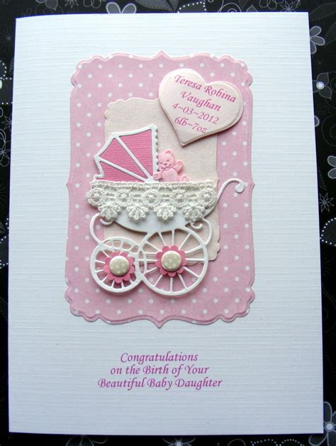 new baby cards to make personalised new baby card handmade pram with l folksy