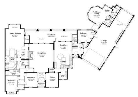 country house floor plans open floor plans country home deco plans