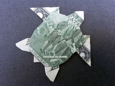 2 Bill Money Origami Sea Turtle Dollar Bill Made