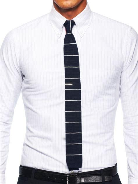gq knit tie horizontal striped knitted tie gentleman s club