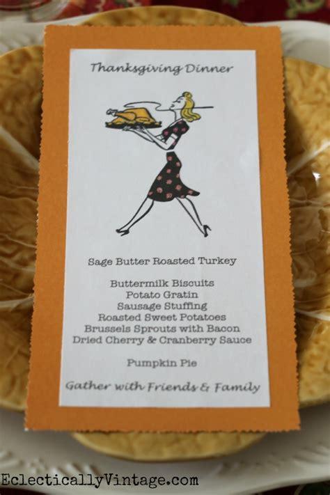 how to make menu card thanksgiving menu cards