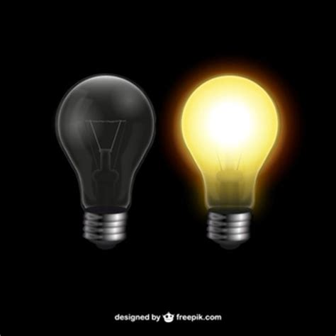 set lights to lightbulb infographic in a flat style vector free