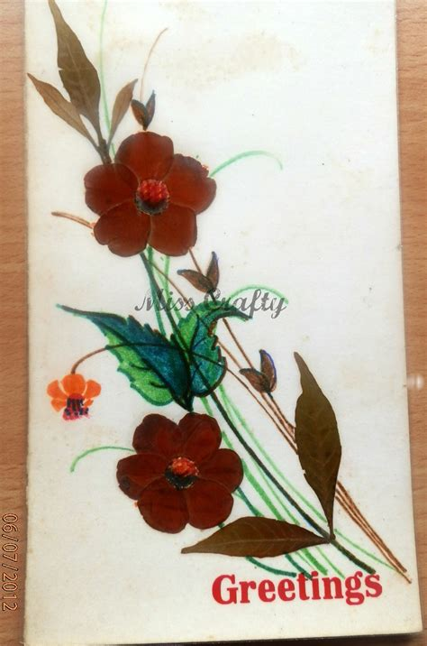 how to make greeting cards with leaves the craft gallery pressed flowers greeting cards part 3
