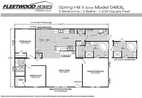 1997 fleetwood mobile home floor plan 1995 fleetwood mobile home floor plans