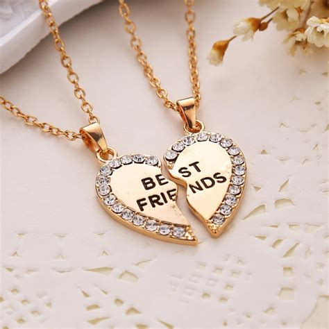 best for jewelry 2015 new fashion gold silver chains best friends