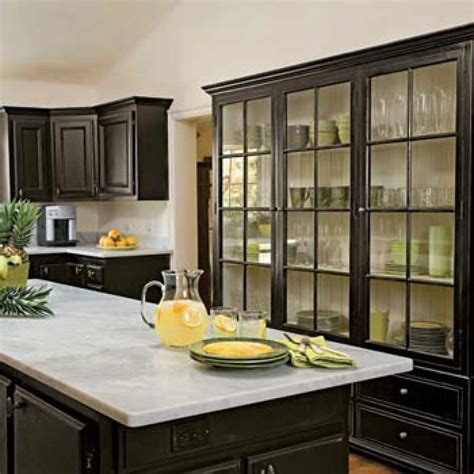 kitchen with black cabinets painted kitchen cabinets black kitchen cabinets look