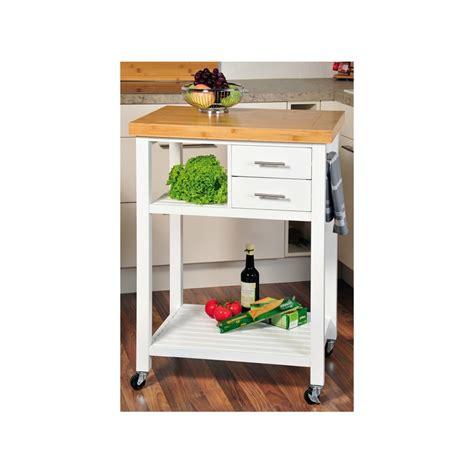 desserte de cuisine en bois blanc avec roulettes meuble de cuisine ac deco