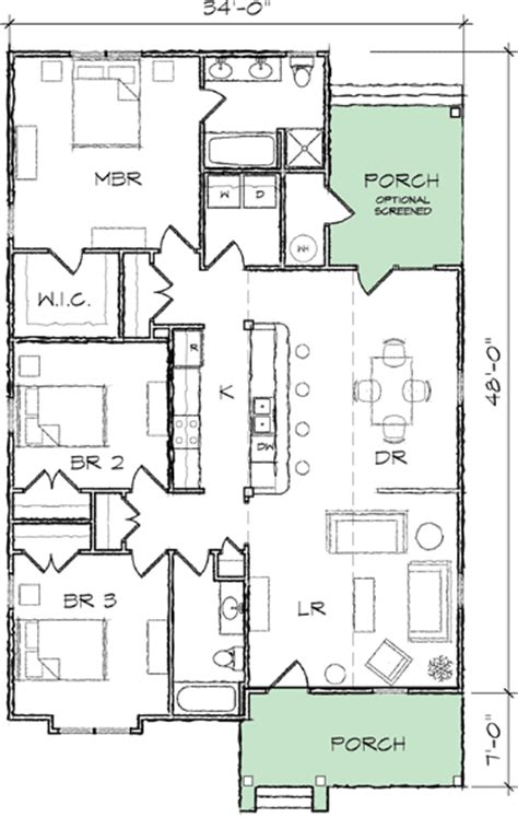 house plans narrow lots narrow lot bungalow house plan 10035tt architectural designs house plans