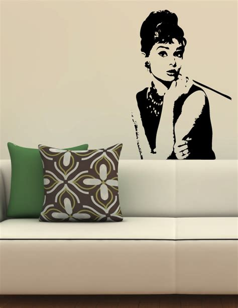 hepburn wall sticker hepburn wall decals walltat