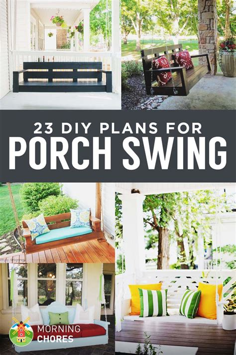 front porch plans free 23 free diy porch swing plans ideas to chill in your