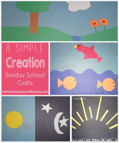 sunday school crafts for 8 simple creation sunday school crafts