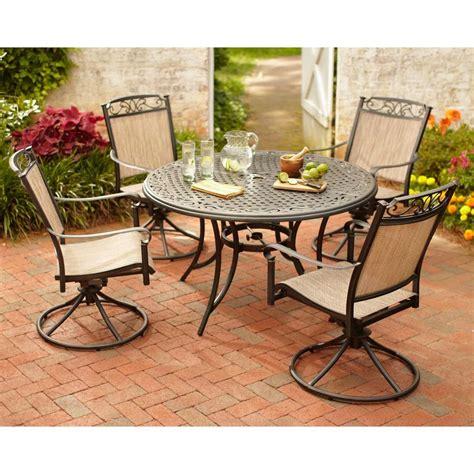 5 patio dining set hton bay santa 5 patio dining set s5