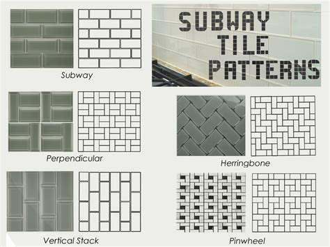 subway tile backsplash patterns ta home owners subway tile for remodel projects
