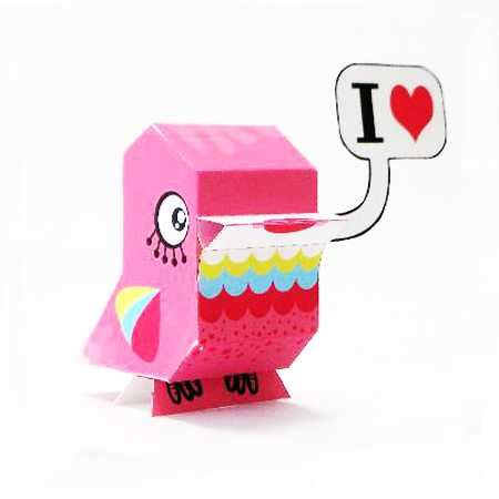 day paper crafts pink bird offering charming recycling paper craft ideas