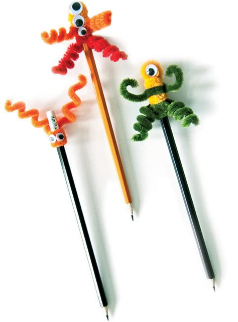 pencil topper crafts for pipe cleaner pencil toppers