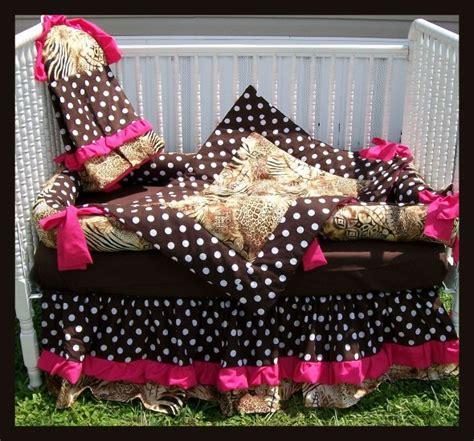 pink and brown zebra crib bedding new baby crib bedding set in brown polka dots zebra and