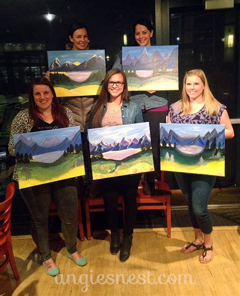 paint nite instructor an artist s review of paint nite angie s nest
