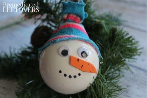snowman ornament craft snowman ornament craft for