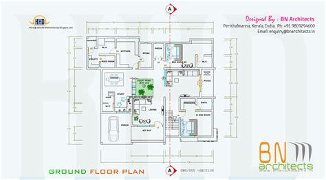 ground floor plan floor plan 3d views and interiors of 4 bedroom villa house design plans