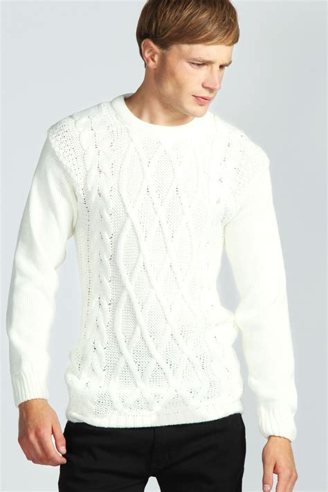 mens knit cable knit mens jumper crochet and knit