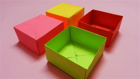 how to make a card board box how to make a paper box easy paper box hd tutorial
