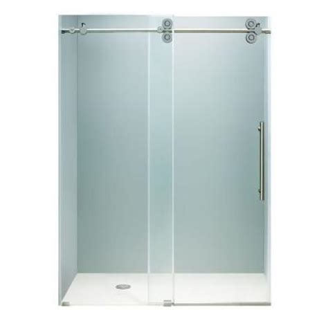 shower doors home depot vigo 60 in x 74 in frameless bypass shower door in