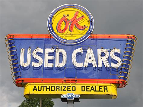 what are used for ok used cars neon sign in va seatco