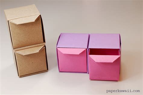 paper box crafts origami pull out drawers paper kawaii