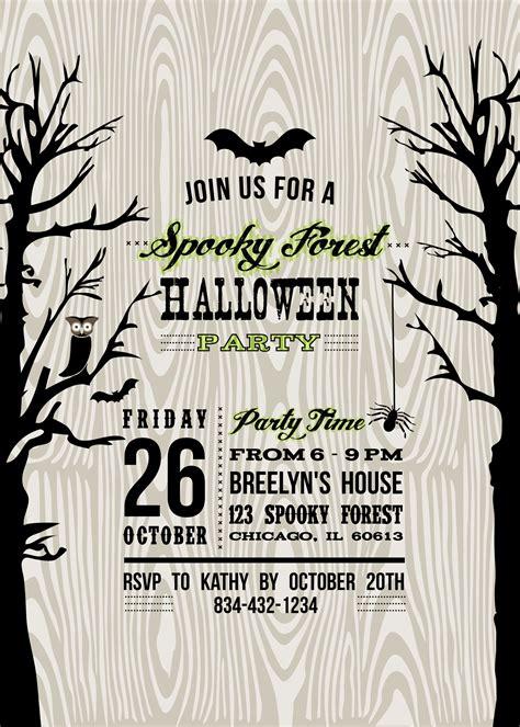 free printable halloween invitations templates www