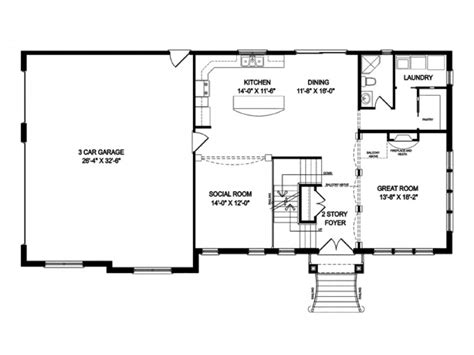 one story open house plans one story houses open floor plans eplans traditional house plan building plans 76245