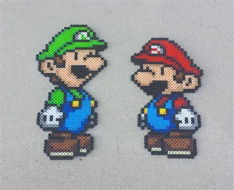 perler bead paper replacement paper mario bros mario perler bead sprites by