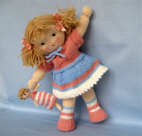free knitting patterns of toys lulu and doll knitting pattern instant