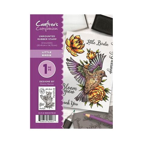 rubber st sets for card crafter s companion birdie unmounted rubber st