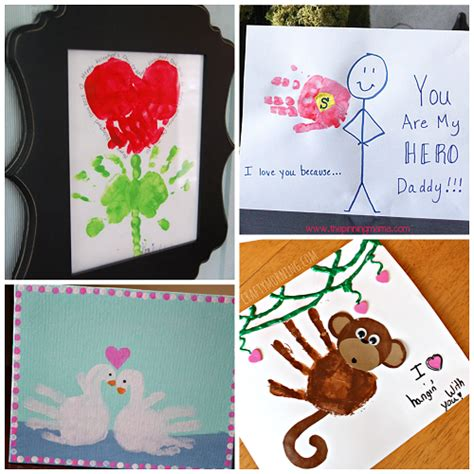 valentines day craft projects s day handprint craft card ideas crafty morning