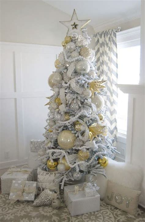 tree with gold decorations silver decorating ideas all about