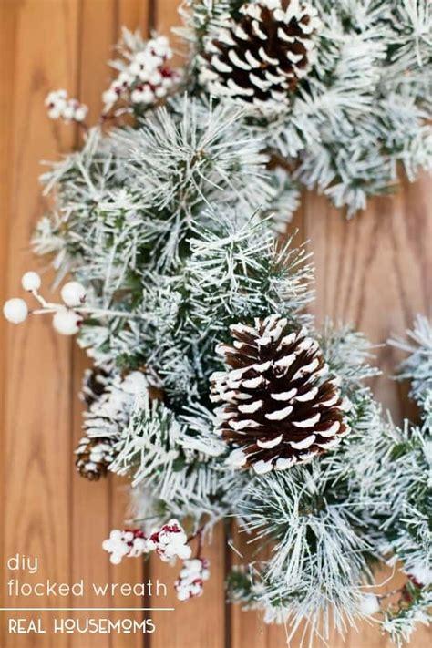 flocked wreath diy flocked wreath real housemoms