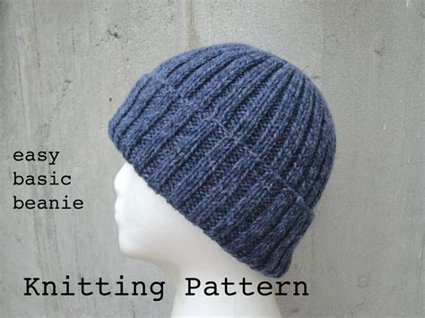 knit beanie pattern easy girlpower s basic beanie pdf knitting pattern easy by