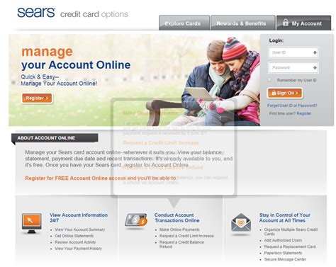 sears credit card make a payment citibank sears card www searscard login informerbox