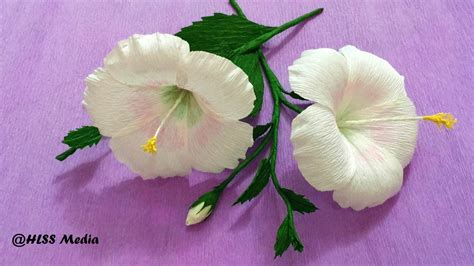 origami hibiscus how to make white hibiscus paper flower origami step by