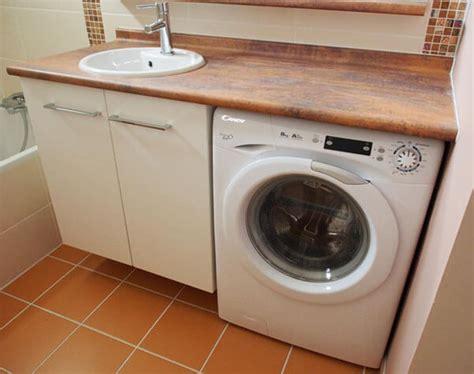 gagnez de l espace dans votre salle de bain en encastrant le lave linge sous le plan de