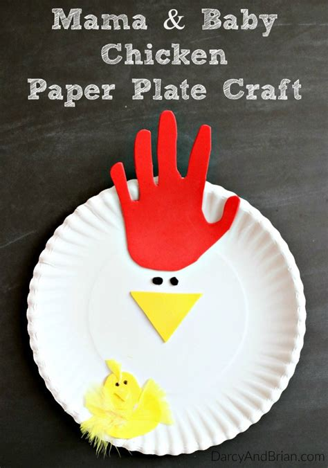 paper plate chicken craft tracing chicken paper plate craft