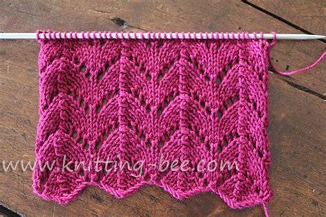 yo knitting stitch free horseshoe lace knitting stitch pattern a gorgeous