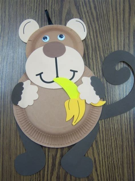 monkey paper plate craft monkey craft alphabet crafts the letter m