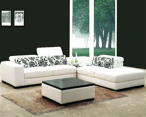 white modern sectional sofa white fabric 4pc modern sectional sofa set 44l0867