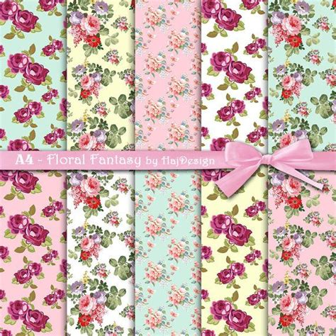 decoupage papers floral a4 digital papers digital collage sheet