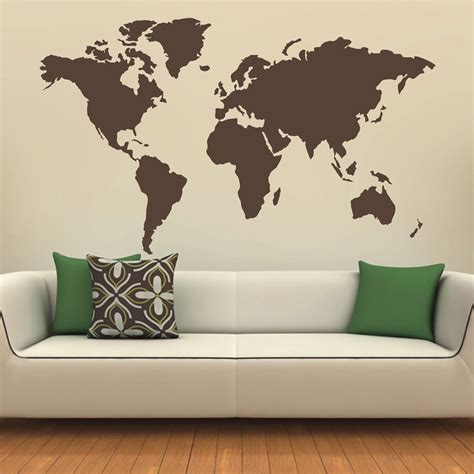 large world map wall sticker world map wall stickers vinyl decals e wall decal
