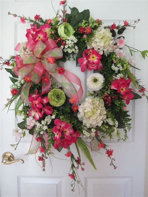 pink wreaths 1000 ideas about hydrangea wreath on