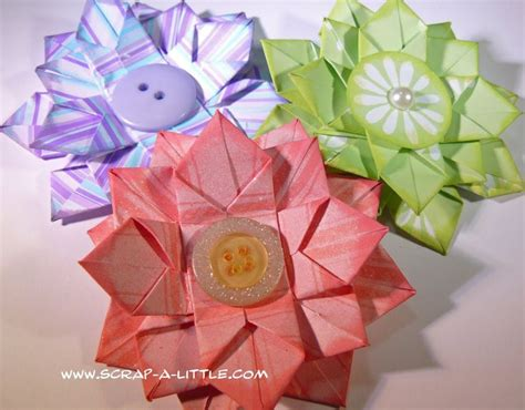 small origami flower origami flower tutorial origamie and quilling