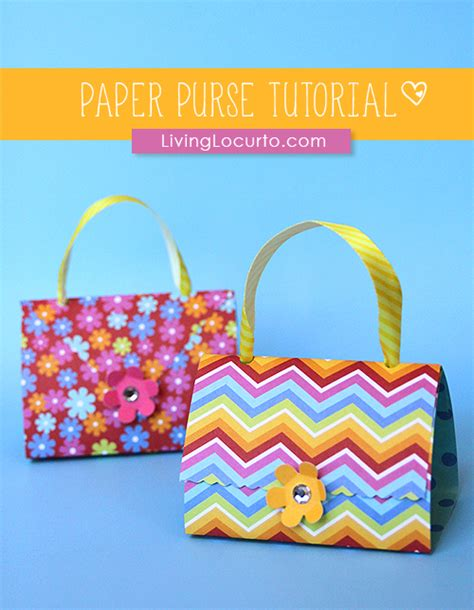 paper crafts tutorials how to make paper purse favors paper craft tutorial
