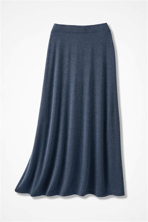 Sweep N Swirl Knit Maxi Skirt Coldwater Creek